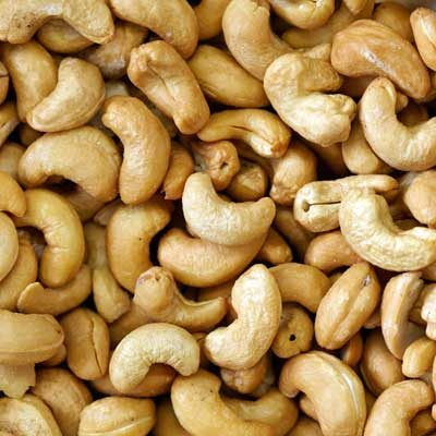 Cashews Roasted Whole (No Salt)