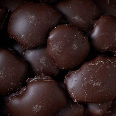 Dark Chocolate Covered Pecan Patties