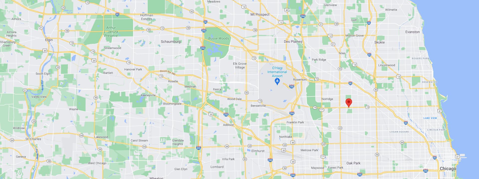 Superior Nut Chicago Map